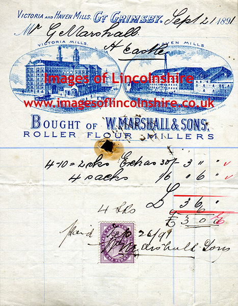 Great_Grimsby_W_Marshall_Receipt_1891