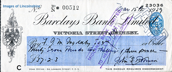 1939_Barclays_Bank_Grimsby_Cheque